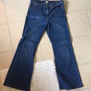 Jcrew high rise flare jeans 30
